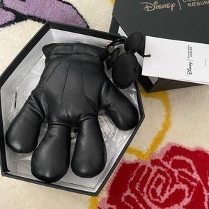Christoper RÆBURN leather Mickey paw purse